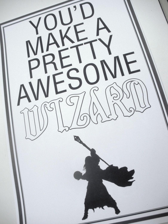 Super Fantastic Compliment Poster - WIZARD