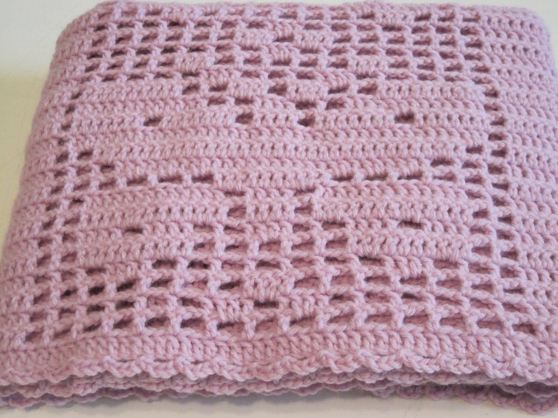 Butterfly, Filet Crochet, Lightweight, Baby Blanket, Baby ...