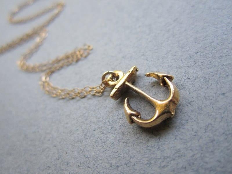 The Original Anchor Necklace - Gold