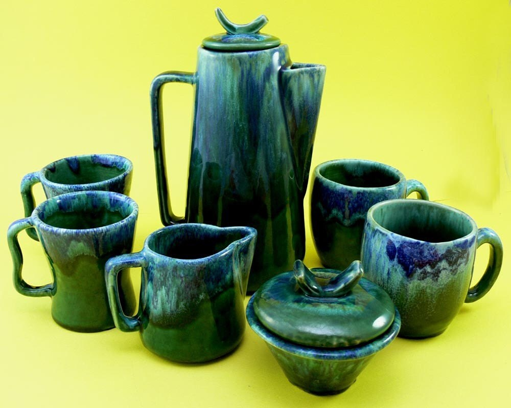 SALE - Vintage Sea Green Tea Set - Laurentian Pottery
