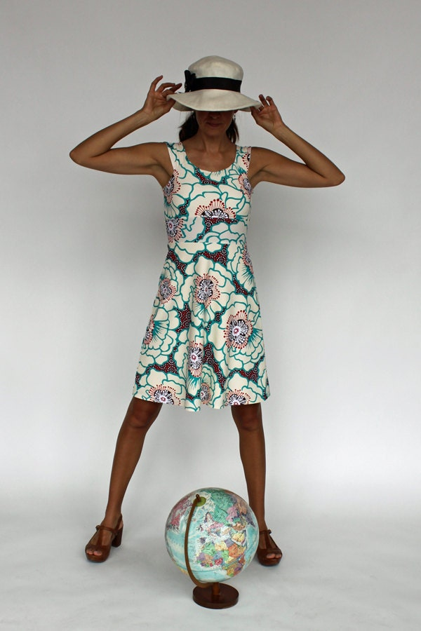Aquarius Dress, Funky Flattering Travel Wear Sundress