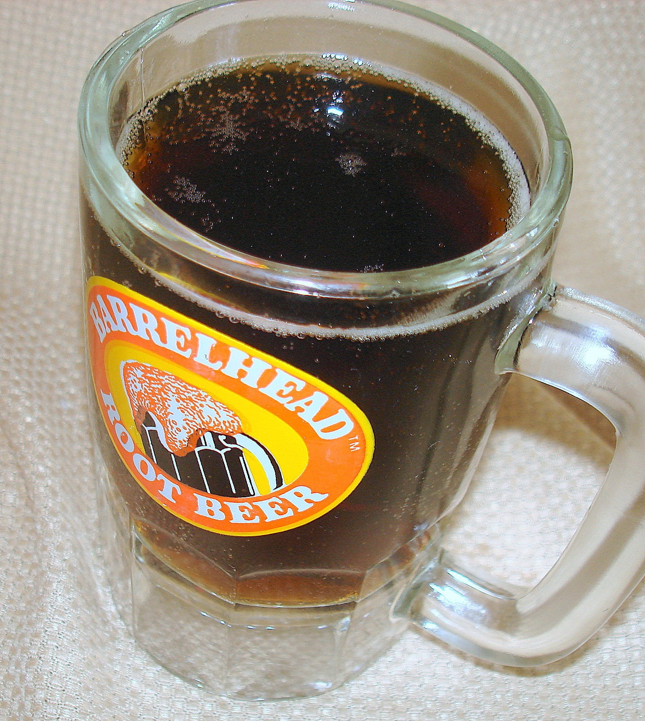 Vintage mug root beer cans