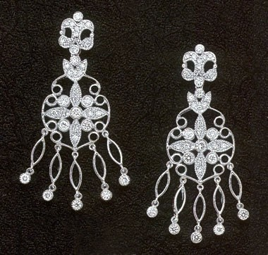 156 carats DIAMOND CHANDELIER EARRING HIGH by diamondsfromnewyork from etsy.com
