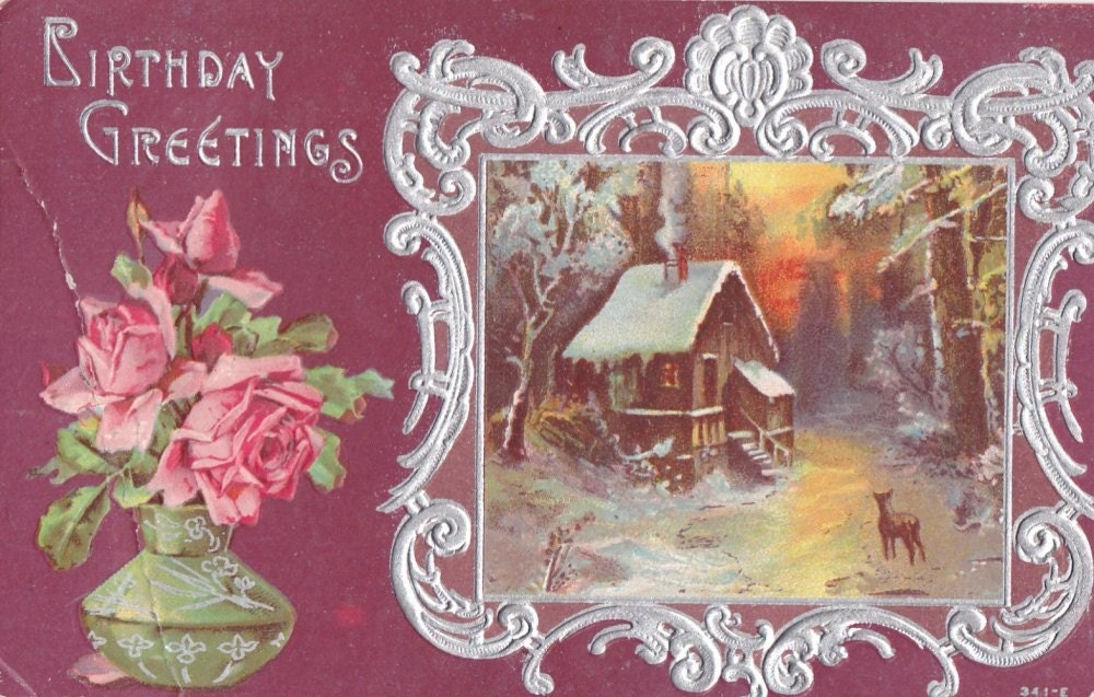 Vintage Birthday Post Card Early 1900s bd035
