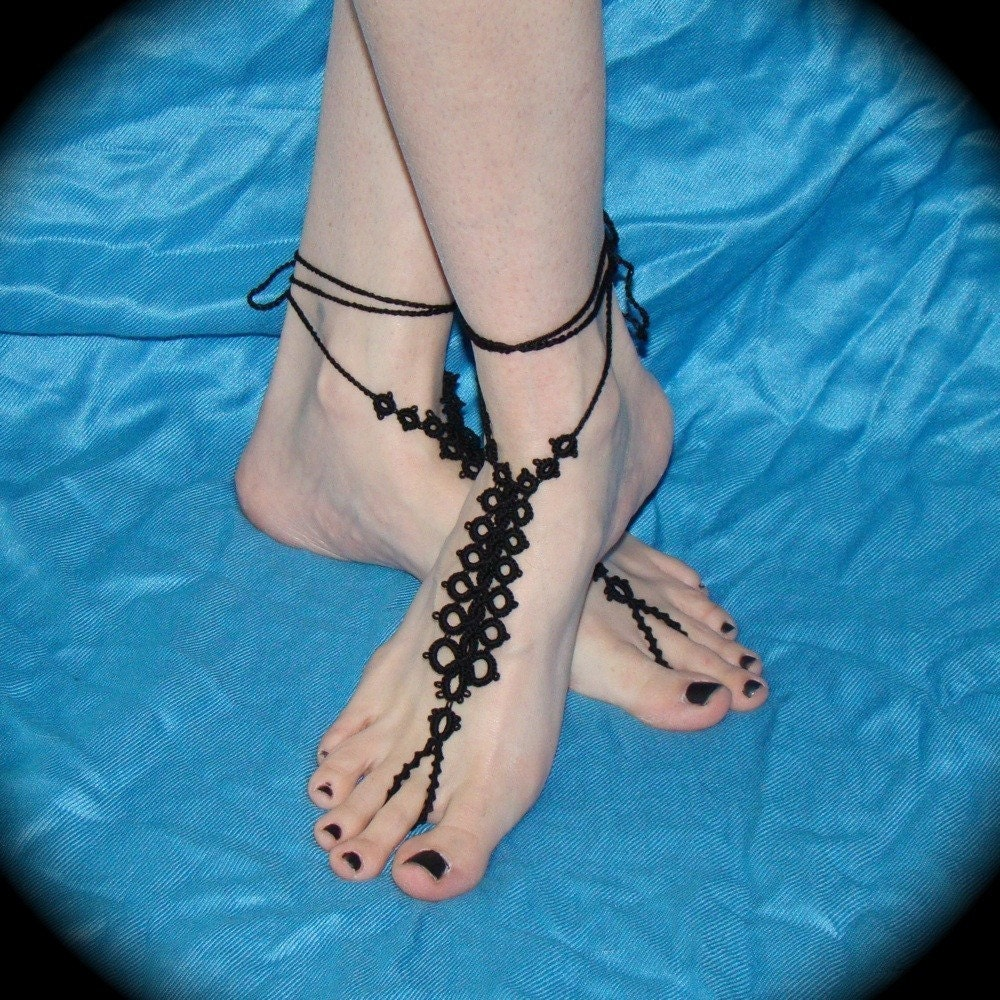 The Spine Tatted Barefoot Sandals by TotusMel on Etsy