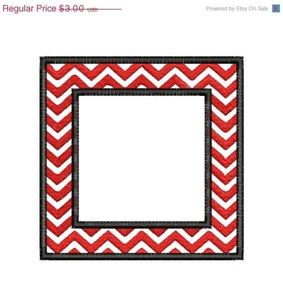 sale 65  off chevron square frame monogram by embroiderydesignsavi