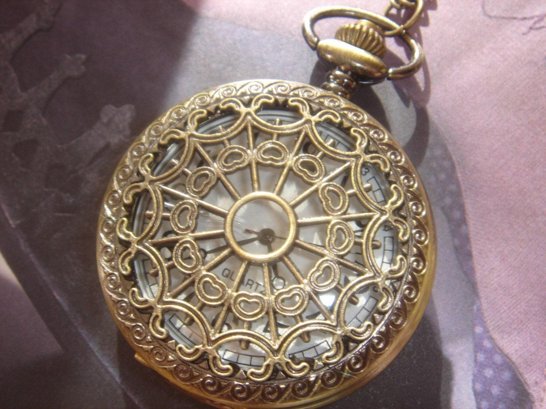 Cobwebs. Vintage Style Watch Locket (LARGE)