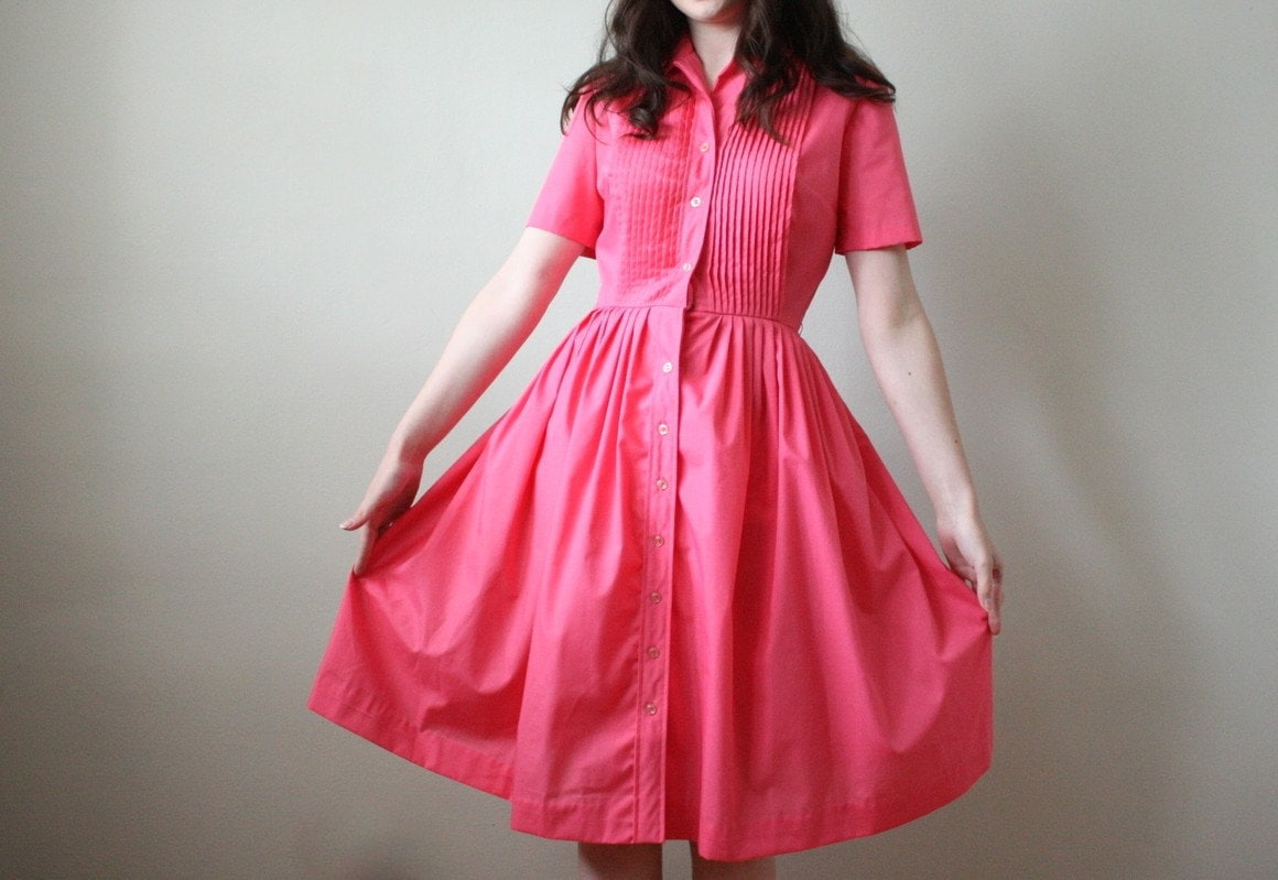 vintage 1950's cherries jubilee shirtdress