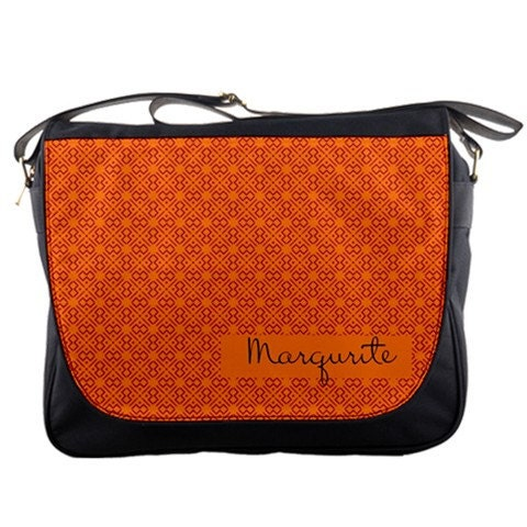 Orange African Inspired Personalized Messenger Bag