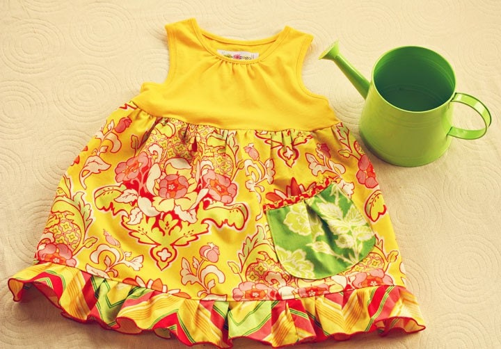 Lil Miss Sunshine Tank Dress for Babies, Toddlers and Girls by babe-a-gogo Size 18 months mos., 2t, 3T,4T, 5T