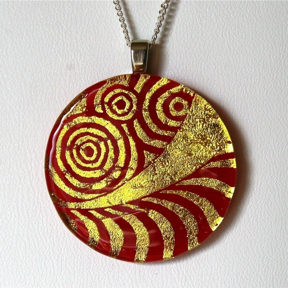 Exquisite Dichroic Glass pendant Round murano design