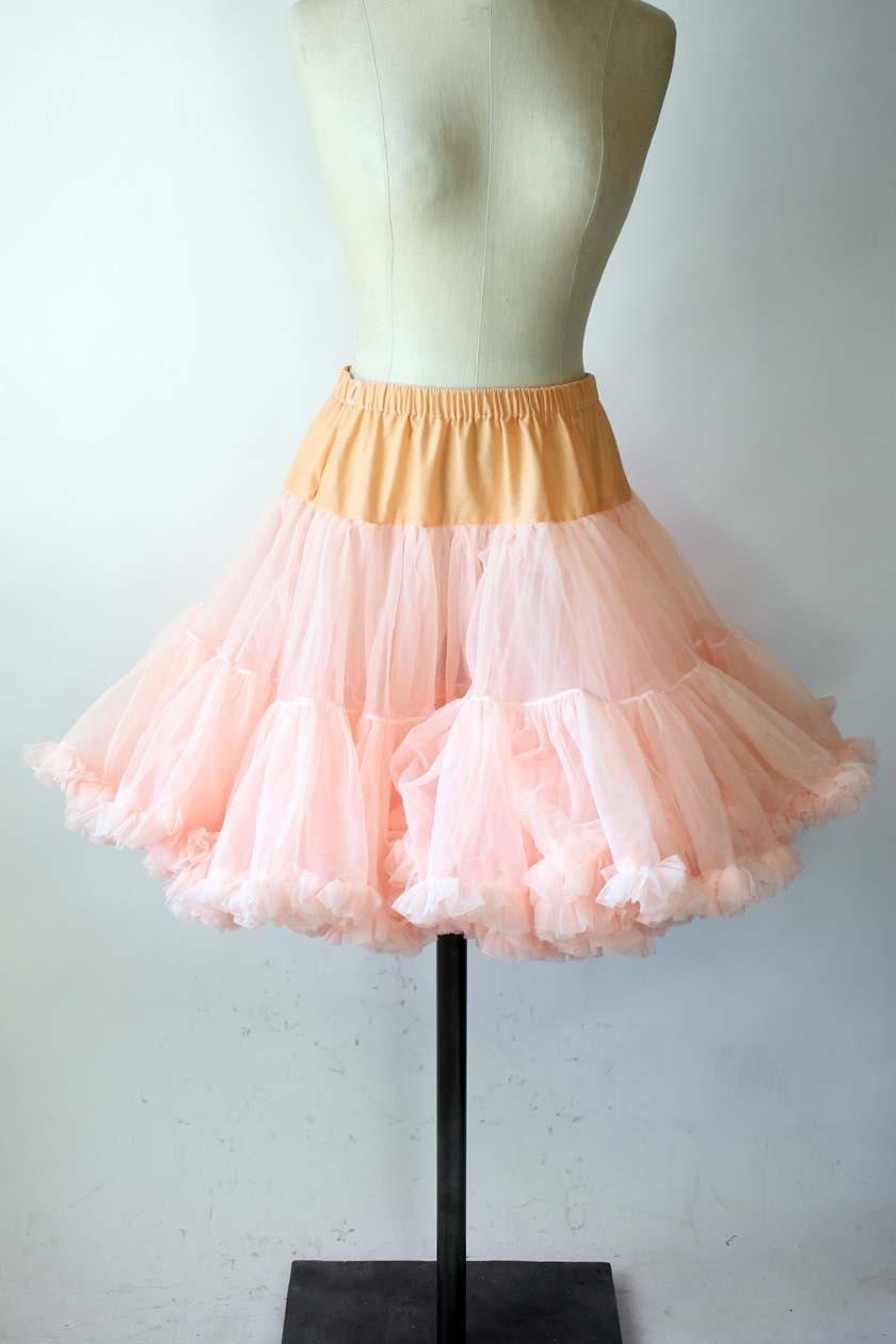 peach square dancing skirt