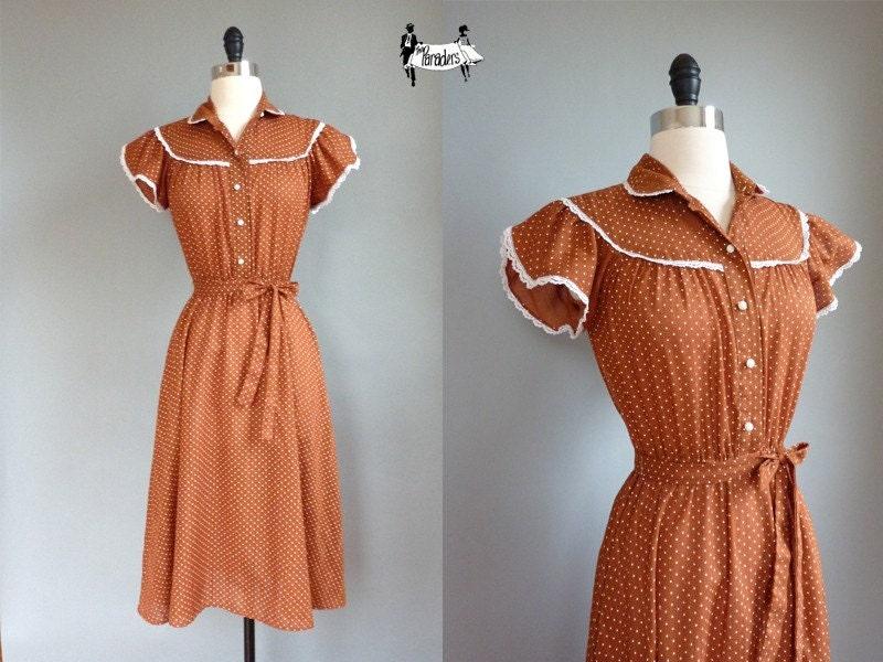 vintage 1970s ELLIE MAY dress (w170c01-1)