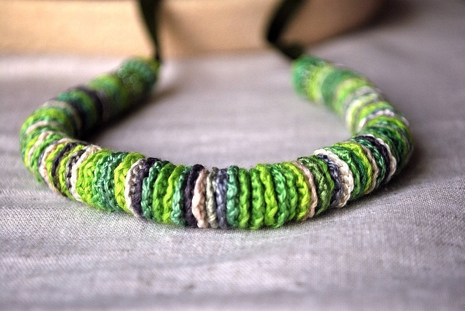 Verde Crochet Necklace Long or Short