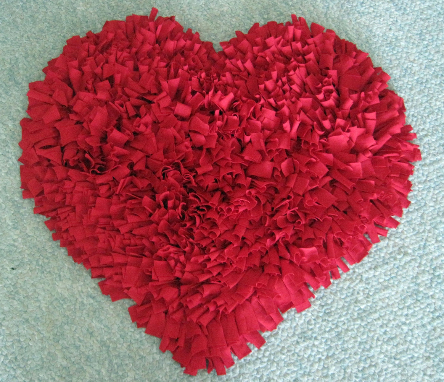Custom Red HEART Cotton Shag RUG By WackyWenches On Etsy