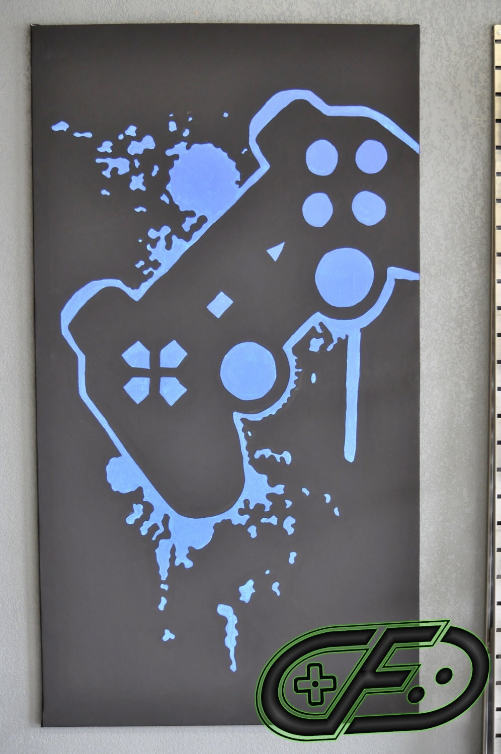 Playstation 3 video game room painting by controlfreakgameart for Room painting games
