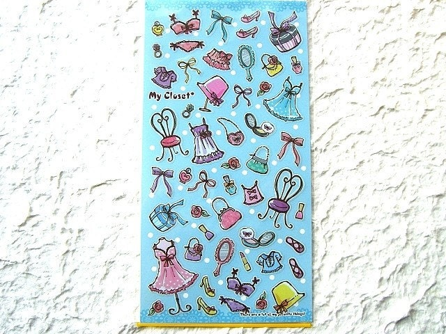 Kawaii Cute  Japanese Stickers - Clothe And Accessory in Closet (S334)