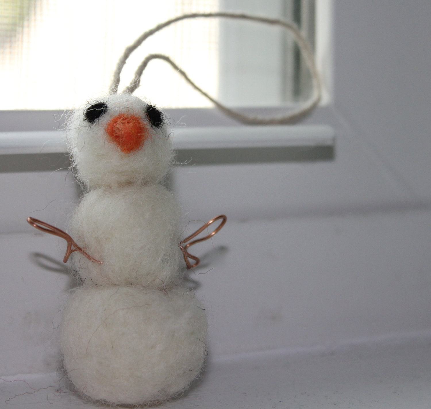 Its Frosty. Snowman christmas ornament felt holiday gift