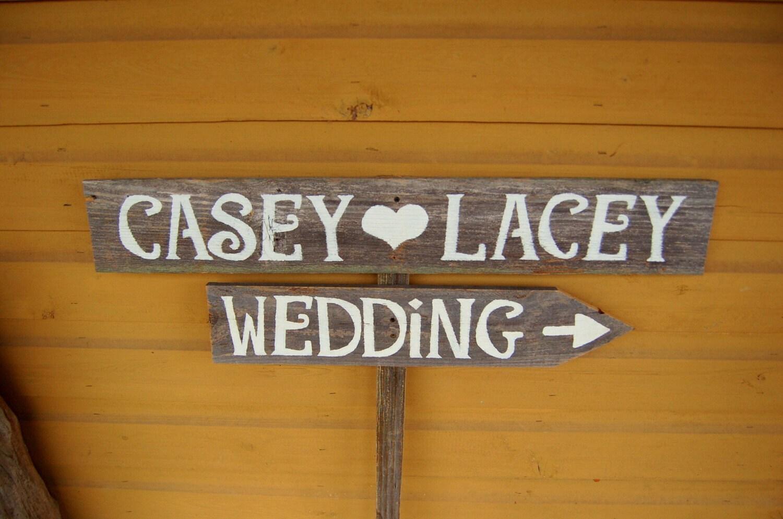 Wooden wedding sign ideas