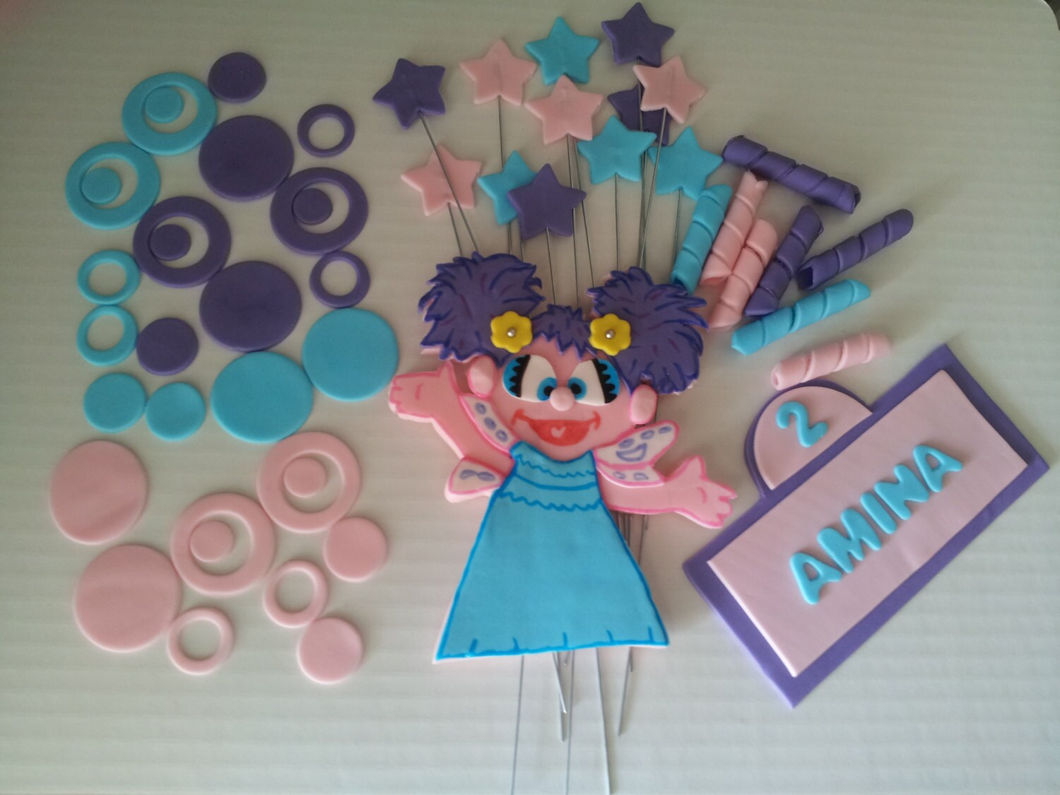 Etsy Cake Decorations : Abby Cadabby inspired Fondant Cake Toppers by 1STOPPARTY ...
