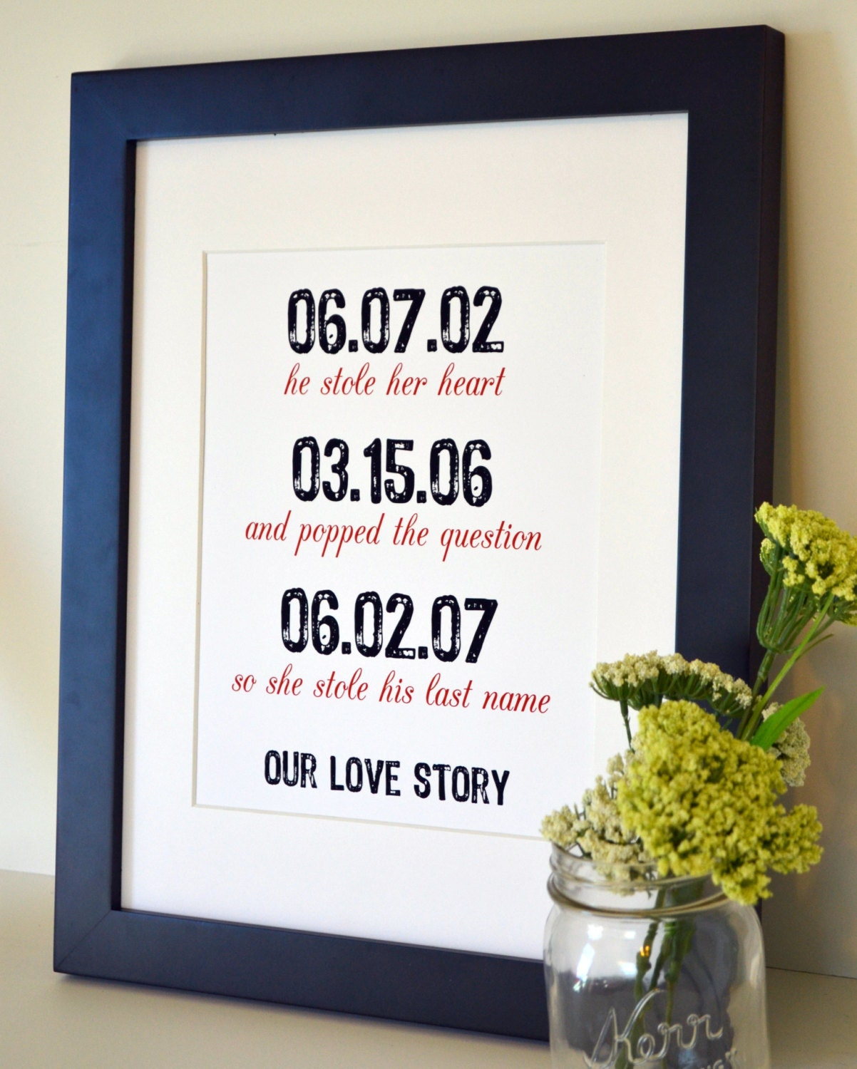 1 Year Anniversary Paper Gift Ideas For Husband : ... day gift- gift for wife- first anniversary paper gift- gift for friend