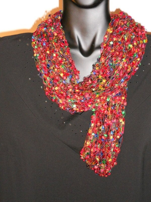 items similar to scarf crocheted infinity fancy