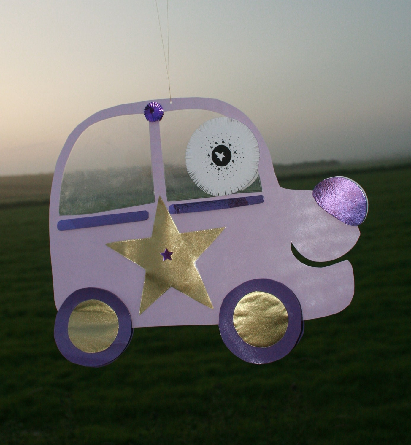 Purple Car Mobile. From WhatWeDreamt
