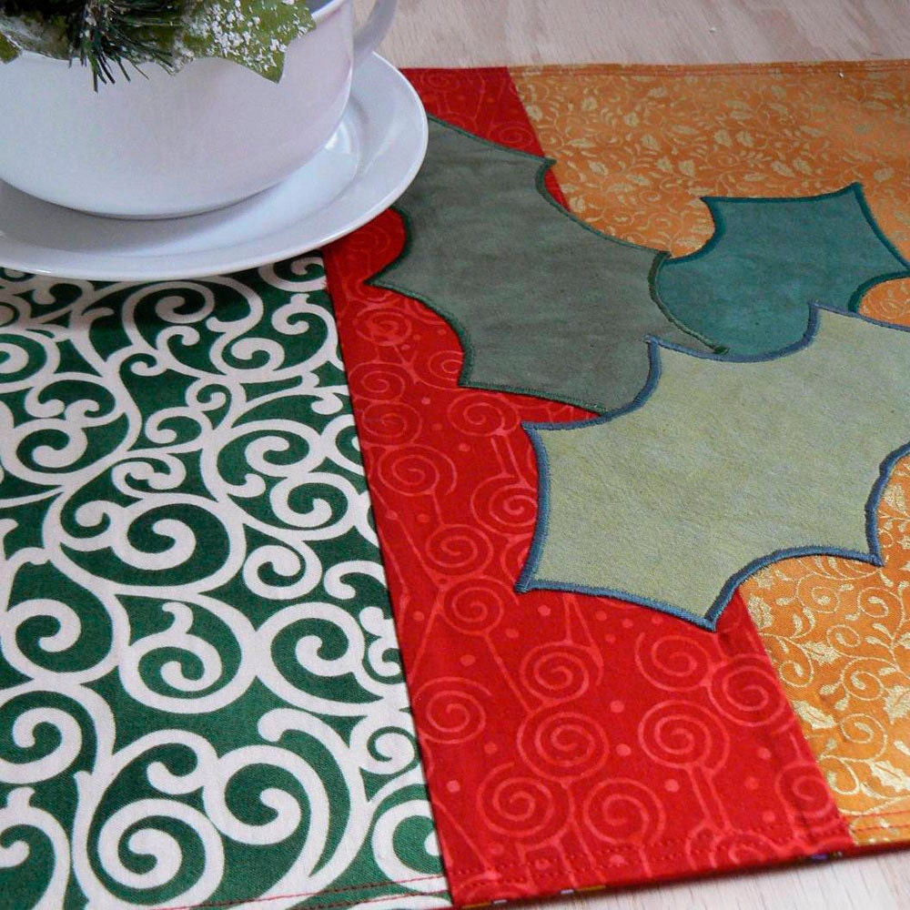 Holly Leaves Place Mats - Set of 4