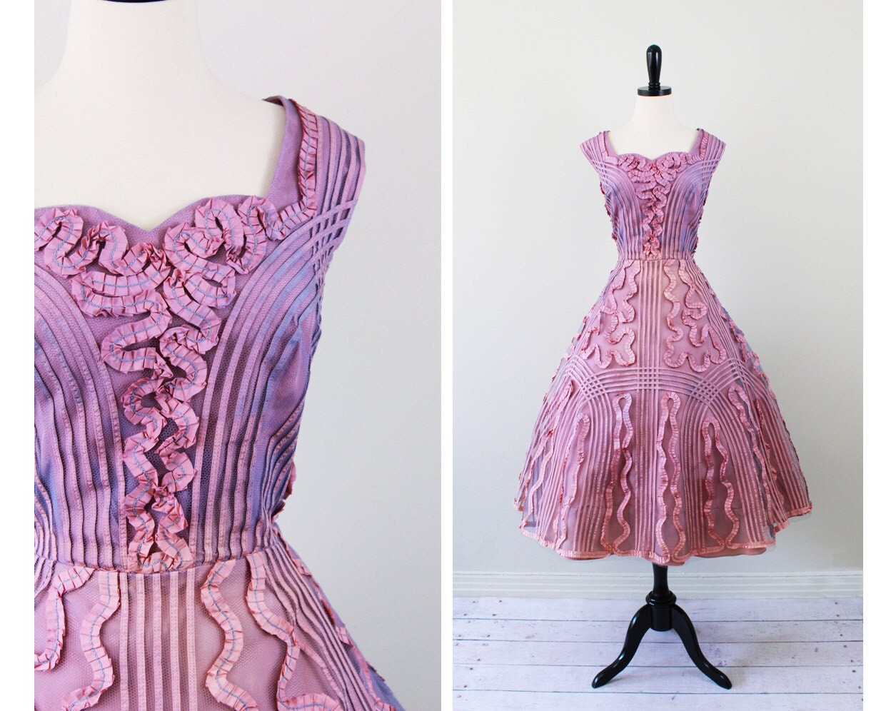 Vintage 1950s Wedding Cupcake Party Dress