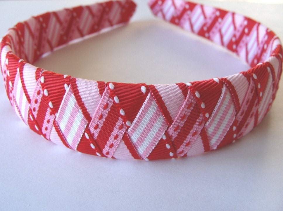 Be My Valentine Woven Ribbon Headband