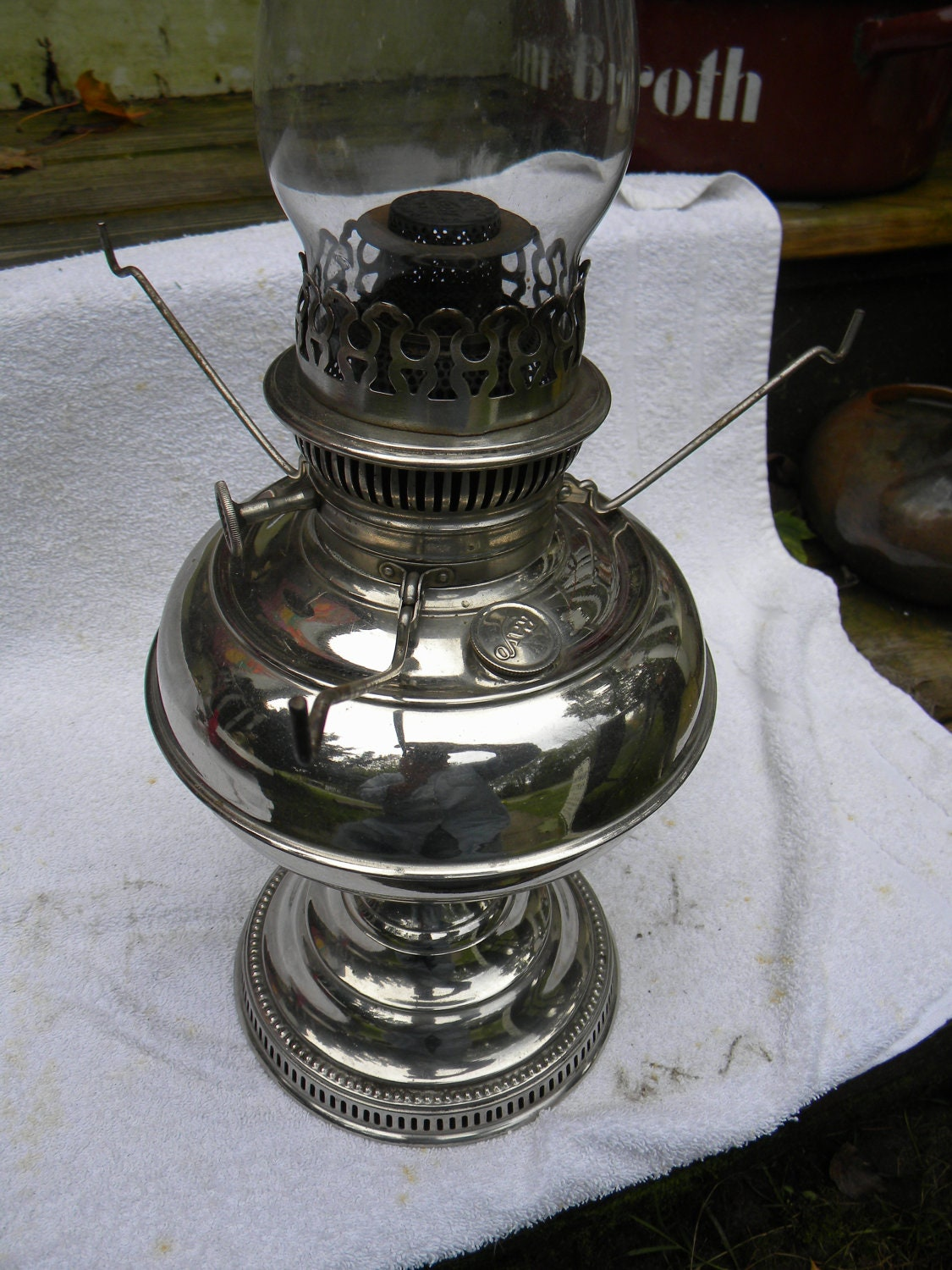 Nice Clean Shiny Antique Nickel Plated Brass 1894 By Score571