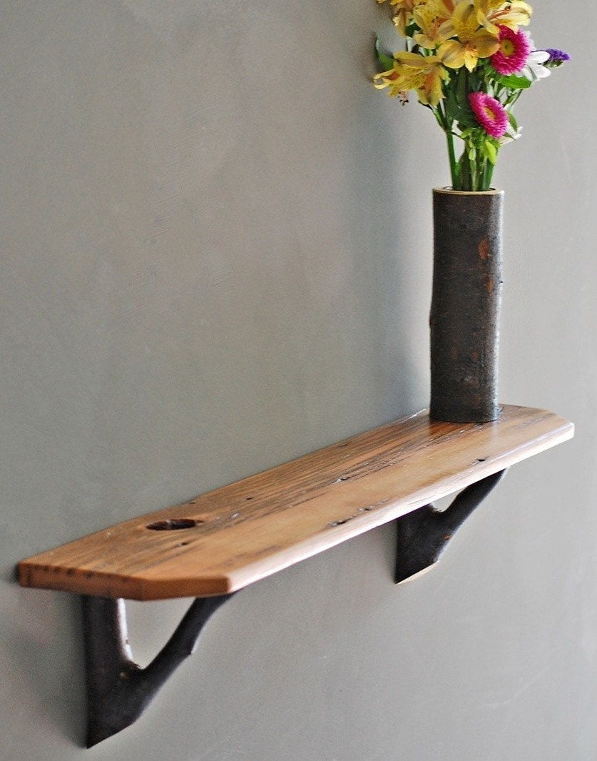 RUSTIC BARN WOOD SHELF