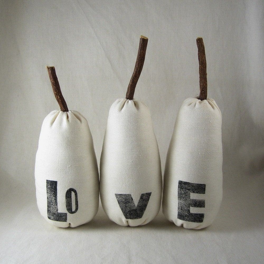 The Love Pears. plush toy for grownups (set of three)