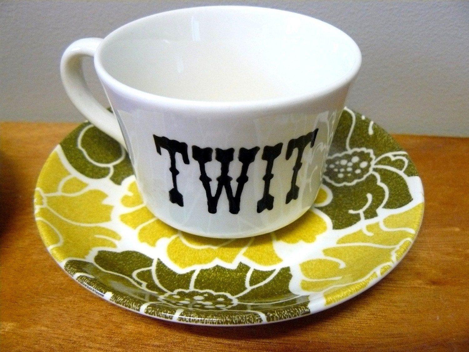 Twit  retro teacup by trixiedelicious on Etsy
