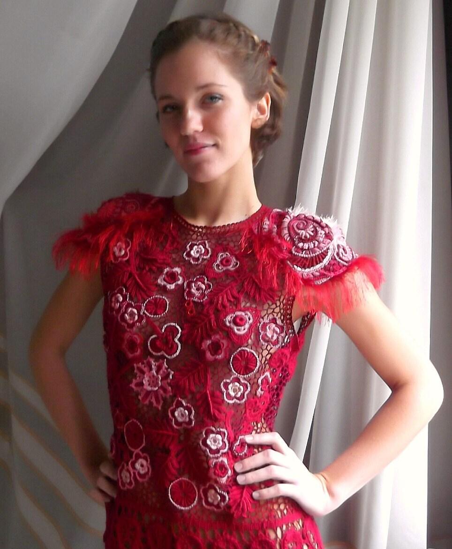 "Dress ""Cherry tango"""