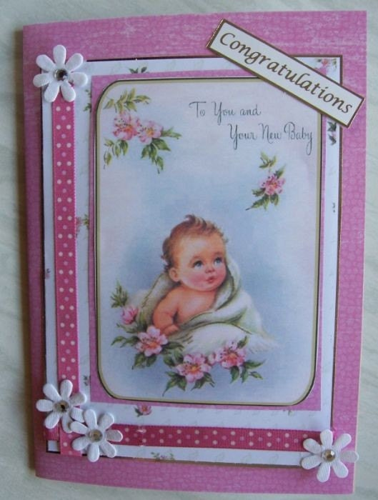 Card for new Mother and Baby----really sweet