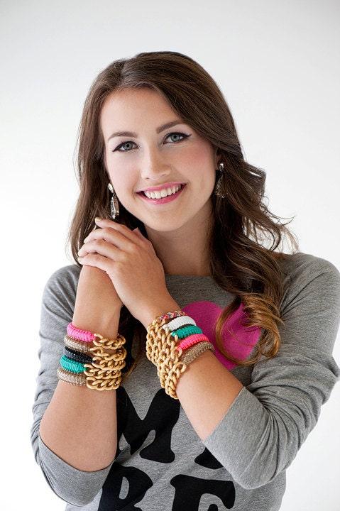 Black Golden Chain- Golden Cobra bfrend bracelet PRE ORDER