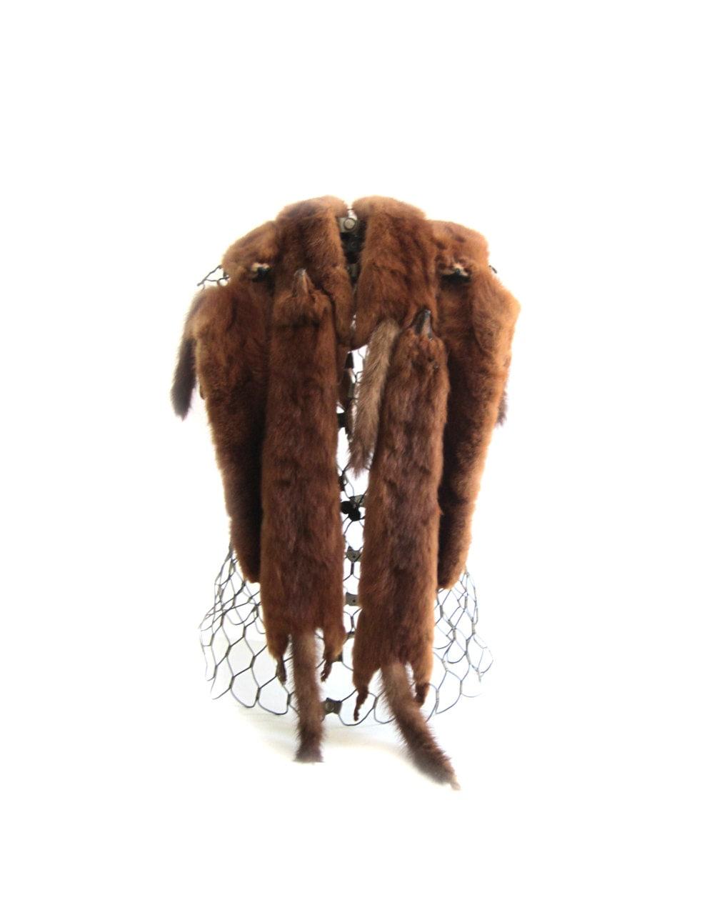 Vintage 40s 6 Pelt Fox Fur Stole - lakesidecottage
