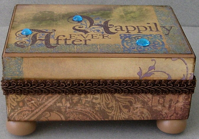 Reserved for SilverbowBeauties Happily Ever After Keepsake Box