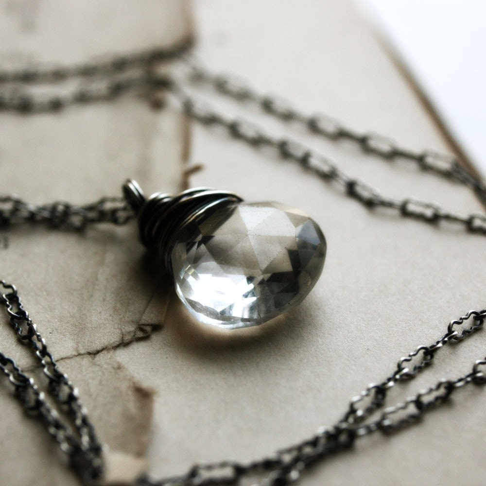 Handmade Necklace Crystal Quartz Sterling Silver, Clairvoyance