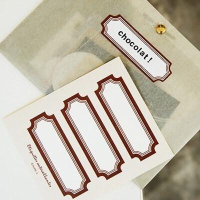 Label sticker - 02 chocolate ( 4sheets)