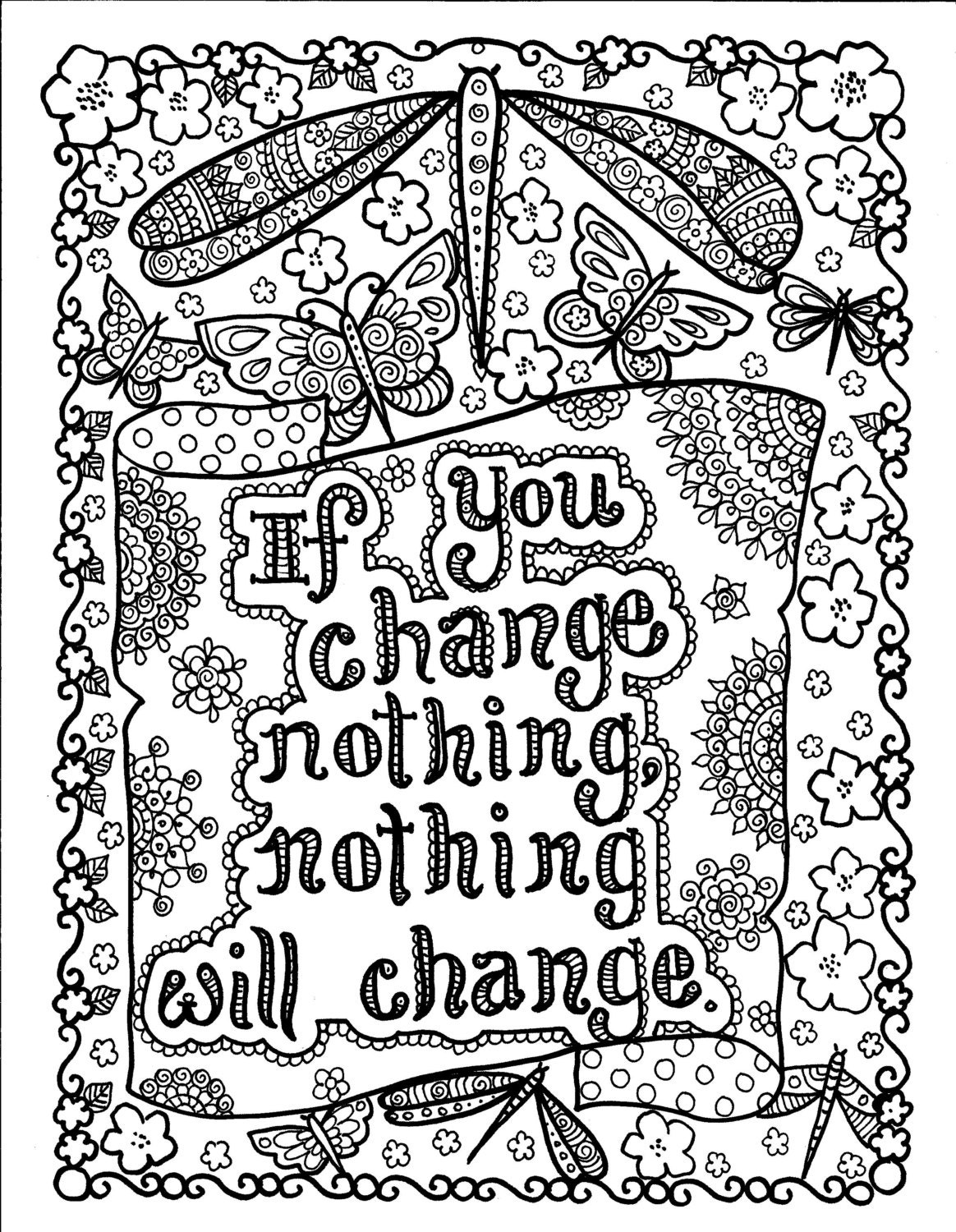 8x12 inspirational quotes coloring pages quotesgram for Positive quotes coloring pages