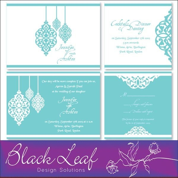 wedding stationery moroccan collection