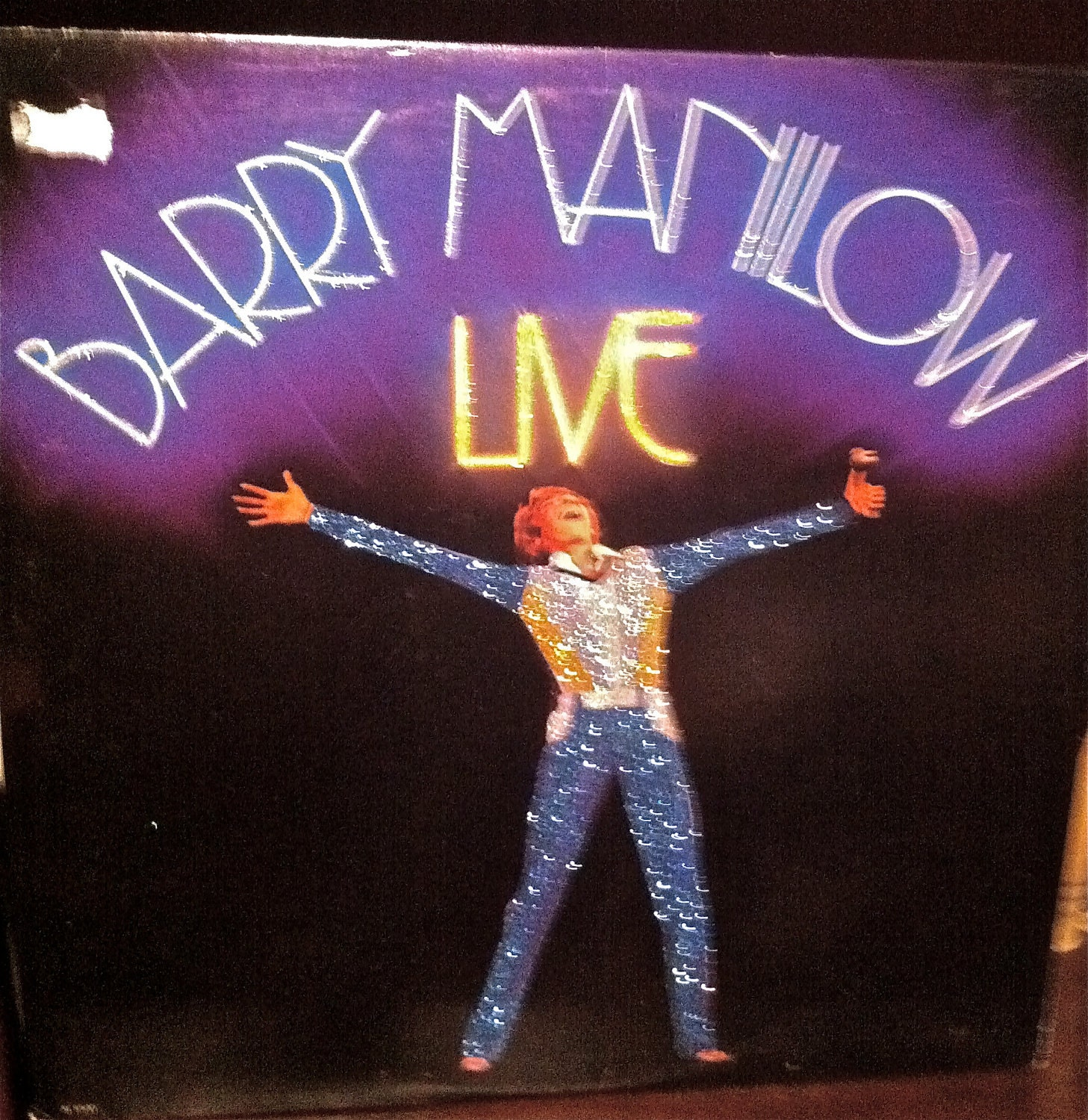 glittered barry manilow live