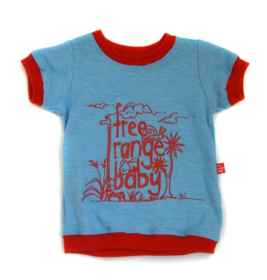 Sky and Fire printed baby tee - 3 to 6months