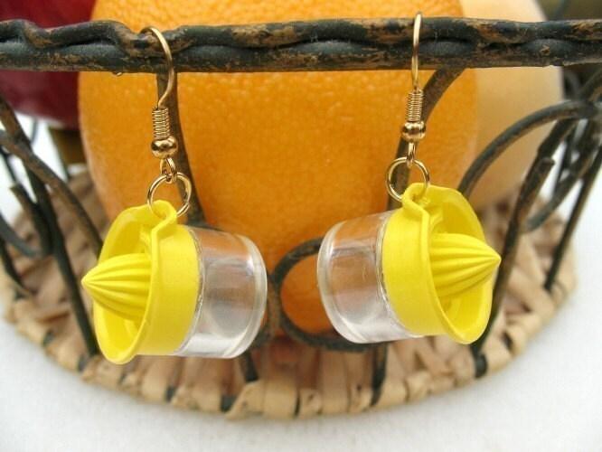 Miniature Juicer Dangle Earrings
