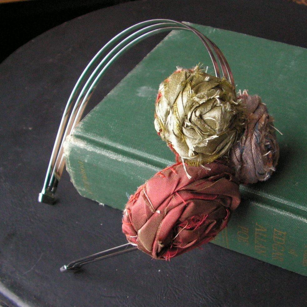 Ramble On Rose - Handmade Fabric Flower Headband