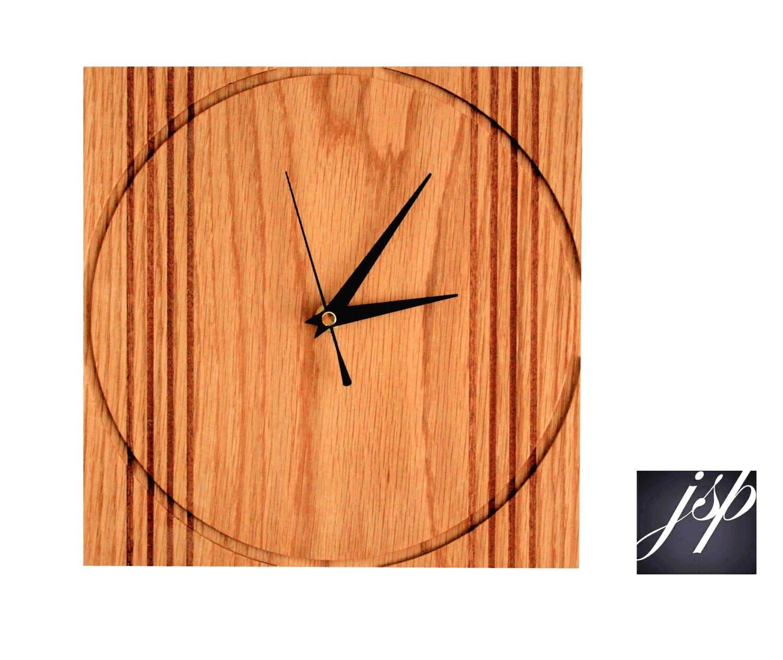 Contemporary Sold Oak Wall Clock
