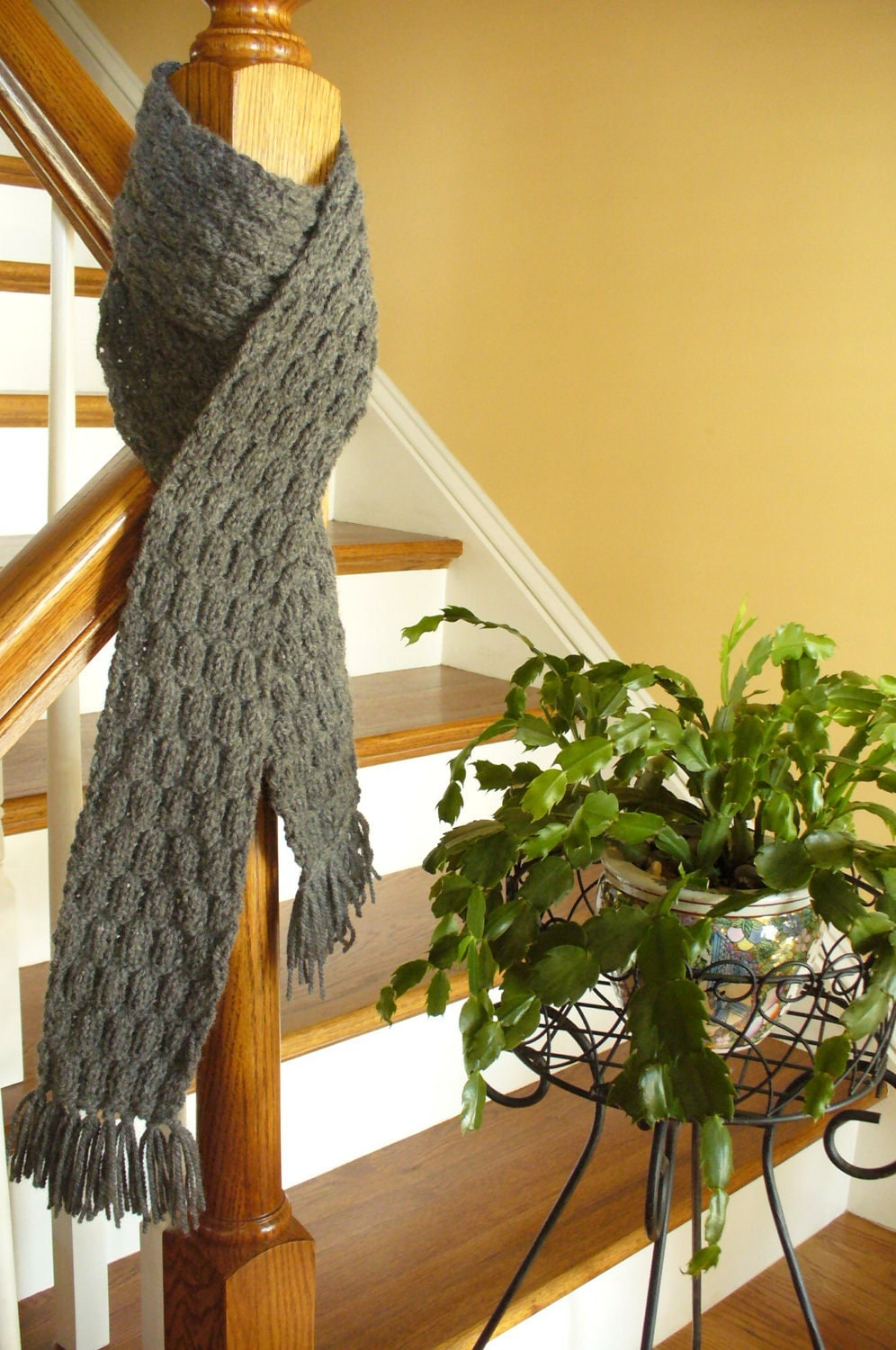 hand knitted scarf for men and women from chesapeakecreations Hand Knitted Scarves For Men