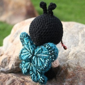 Crochet Pattern- Francisca dressed as a butterfly amigurumi doll